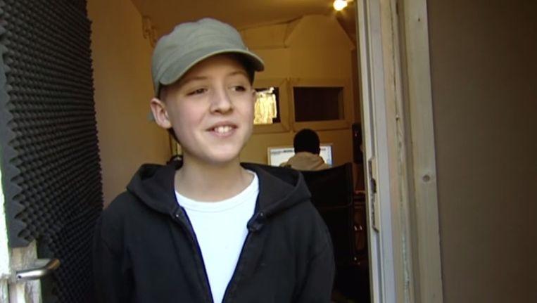 Lil' Kleine als 12-jarige in het Jeugdjournaal Beeld YouTube