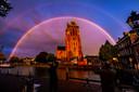 April 2019: De Grote Kerk van Dordrecht in een bijzonder decor. Foto ter illustratie.