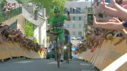 Nu ook op tijdritfiets: Sagan vermaakt publiek met wheelie bergop