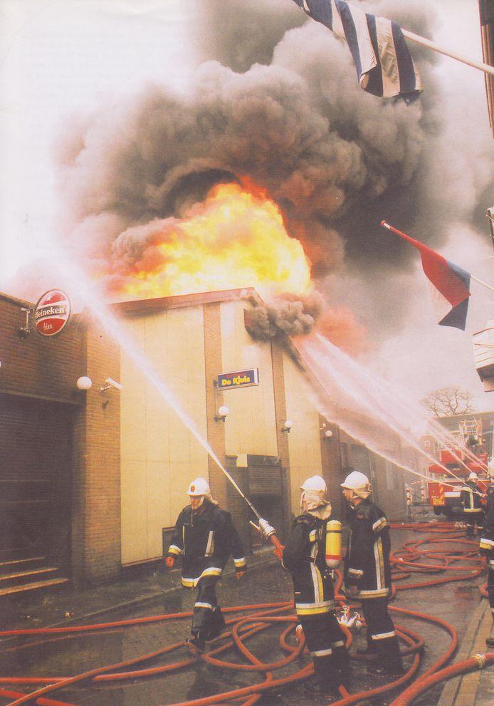 'De Kluis' in brand.