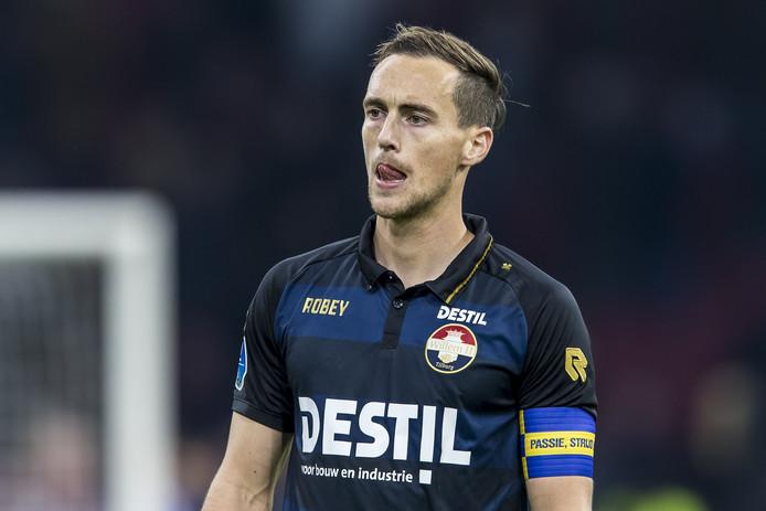 Freek Heerkens in actie voor Willem II.
