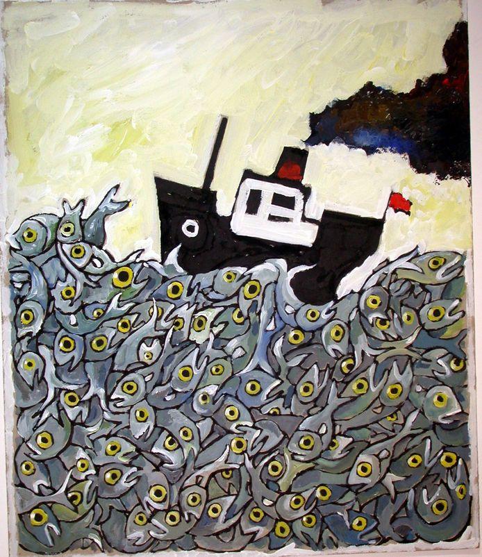 Wim Hofman: 'bootje op zee van vis'