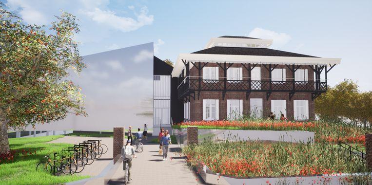 De nieuwbouw en het Chinees Paviljoen.