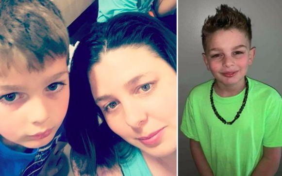 Volgens de politie lijkt het erop dat Robby (9), links met zijn mama, is doogebeten door honden.