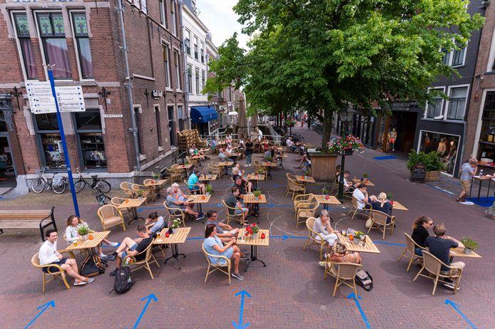 Delft, 1 juni 2020. De horeca opent haar deuren.