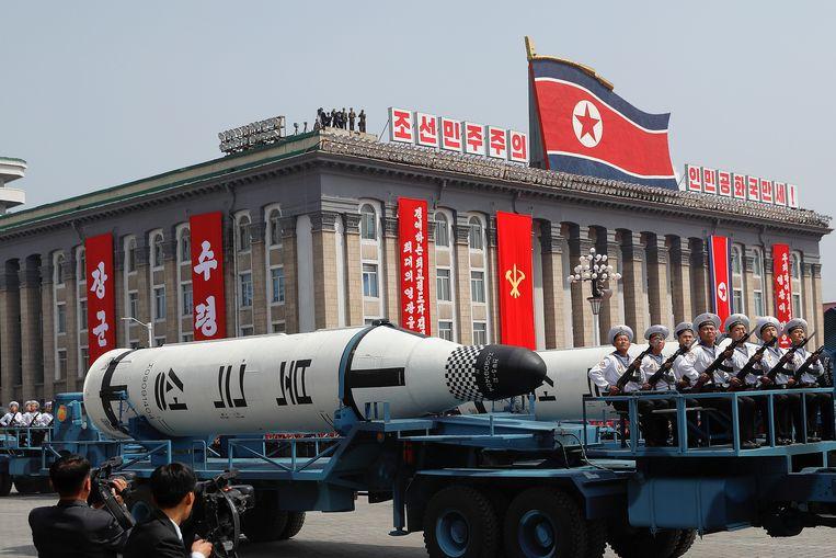 Militair machtsvertoon en grote bommen. Beeld REUTERS