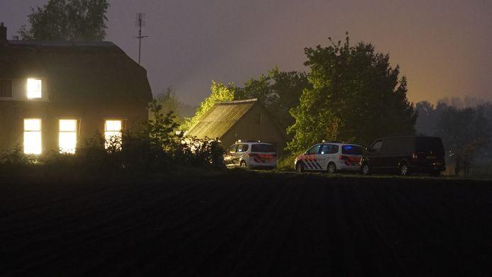 Nadat de politie bij de woning aan was gekomen, waren de daders al gevlogen.