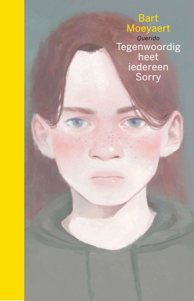 De nieuwe roman van Bart Moeyaert: Tegenwoordig heet iedereen Sorry.  Querido €17,99.  Beeld rv