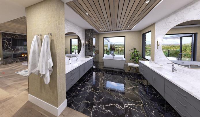 L'une des onze salles de bain.