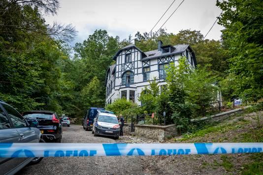 De Belgische politie deed onderzoek aan de rand van een bos in de buurt van Spa. Yvo T. werd op deze plek opgepakt.