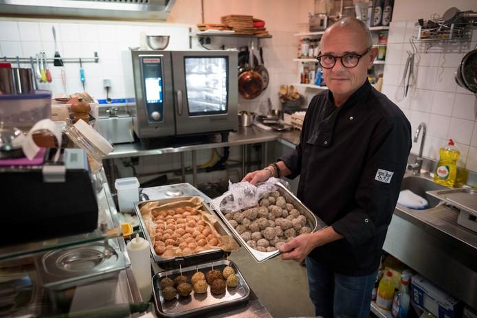 Jurgen Bierdrager in zijn nieuwe restaurant Meatball@nr.3.