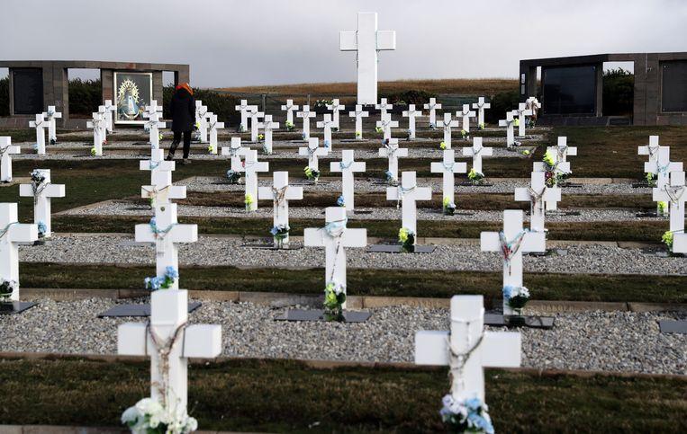 Begraafplaats waar Argentijnse soldaten liggen die stierven tijdens de Falklandoorlog.