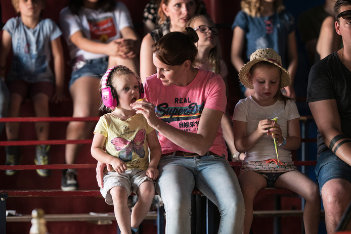 In het circus in het Blagenparadijs.