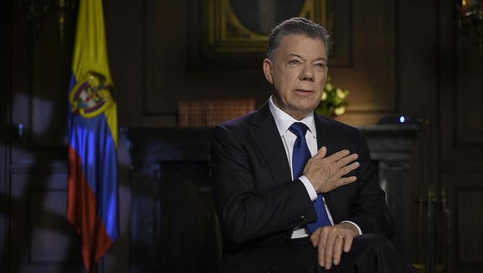 Juan Manuel Santos, président colombien sortant