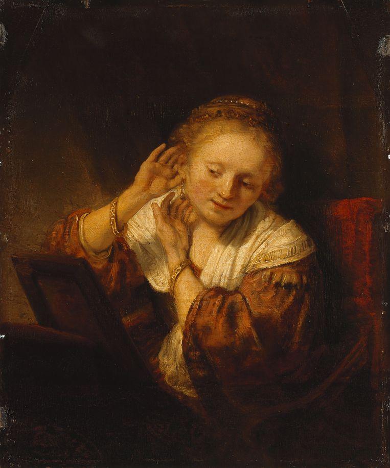 Rembrandt, Jonge vrouw met oorbellen, 1656 Beeld © State Hermitage Museum, St Petersburg