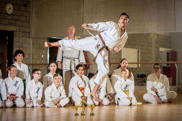 Mohammad is binnen een jaar al Belgisch kampioen karate geworden.