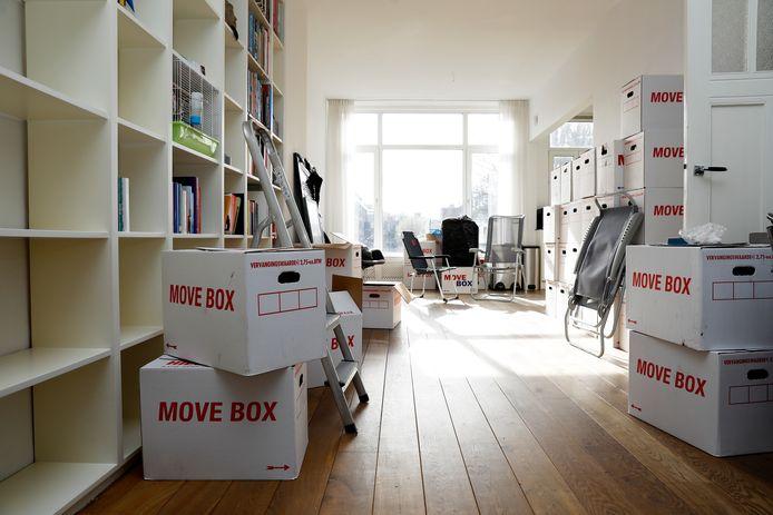 Verhuisdozen tijdens een verhuizing. Foto ter illustratie.