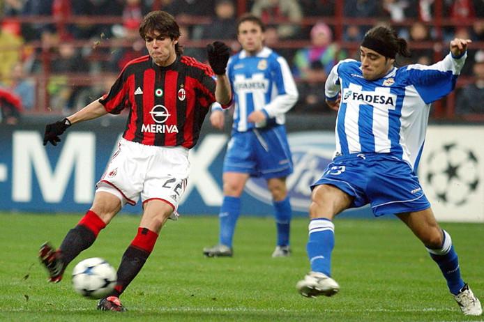 In 2004 verspeelde AC Milan met Kaká in de kwartfinale een 4-1 voorsprong tegen Deportivo La Coruña.