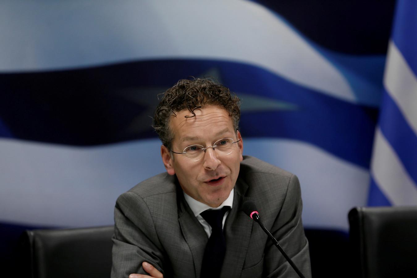 Jeroen Dijsselbloem in Athene toen hij nog voorzitter was van de Eurogroep. Wij prezen hem om zijn strenge optreden, anderen juist niet.