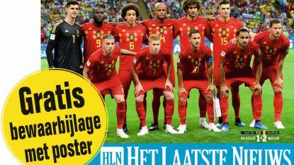 Vandaag bij uw krant: WK-bewaarbijlage Rode Duivels mét XL-poster