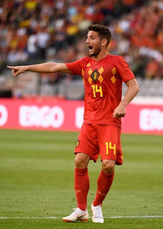 Ex-PSV'er Dries Mertens in het shirt van België.