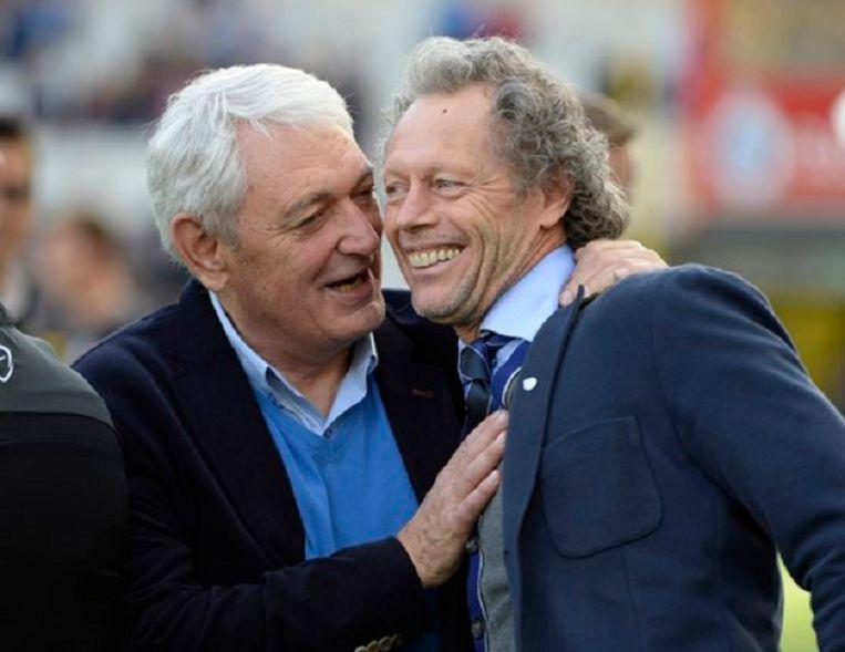 Erwin Vandendaele met Michel Preud'Homme.
