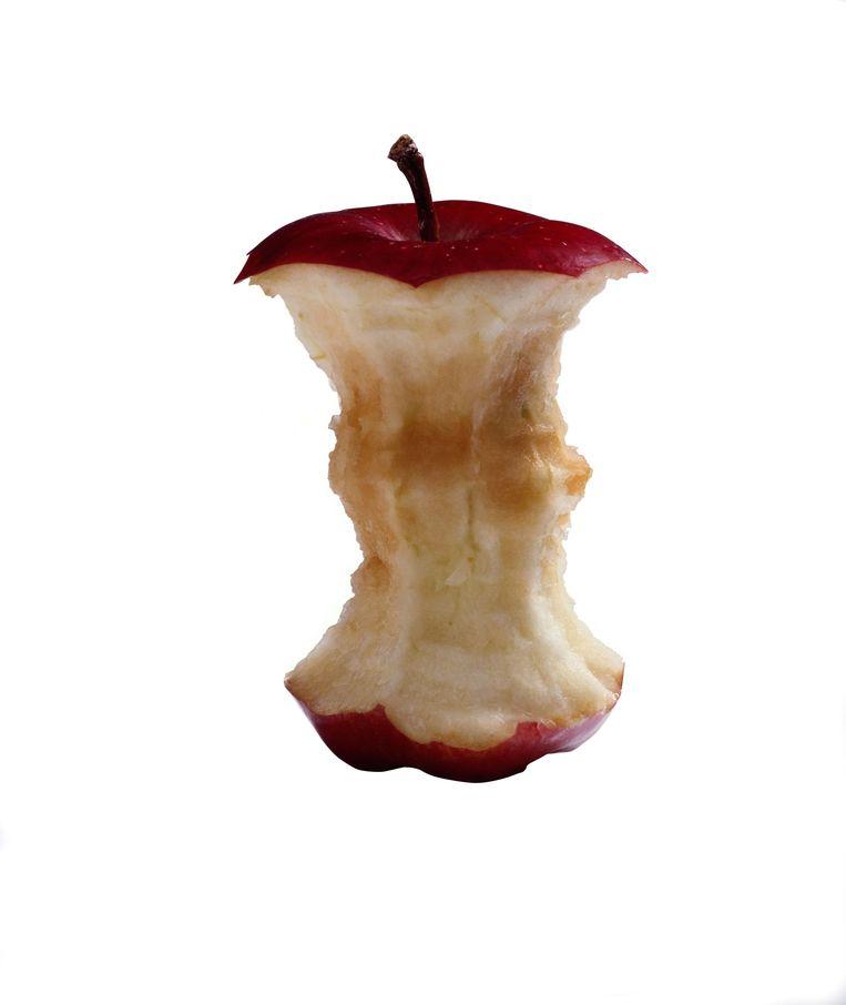 Ook het klokhuis van een appel is zwerfvuil.