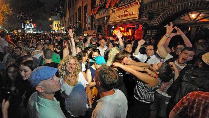 Feest voor The Stonewall in West Village, Manhattan