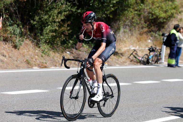 Wout Poels werd voor de Vuelta voor het eerst als kopman aangewezen door Ineos. Beeld null