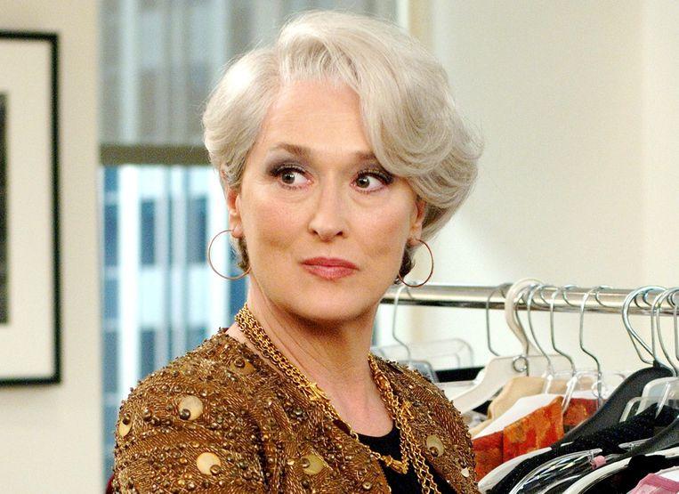 Meryl Streep in de film 'The Devil Wears Prada'.