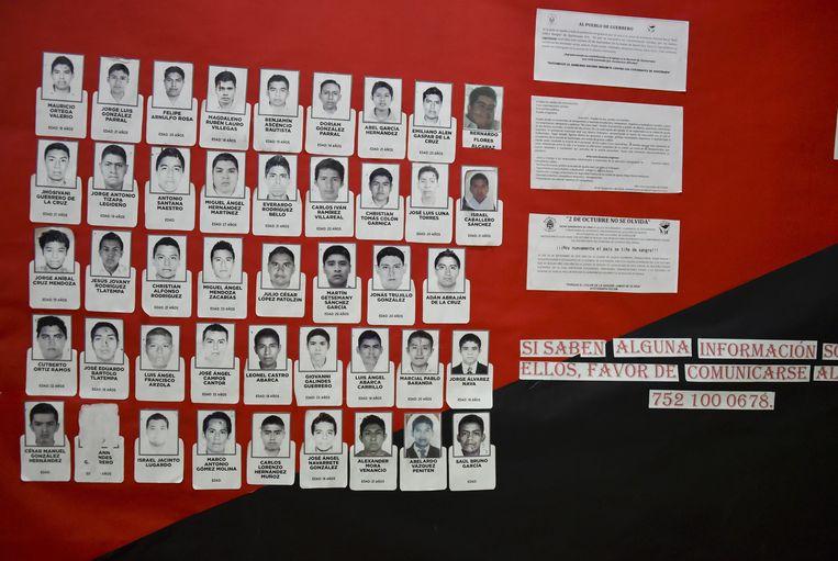 De 43 vermiste studenten. Beeld AFP