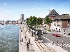 Plus d'un mois de travaux pour le tram place des Déportés et quai Saint-Léonard