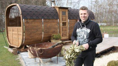 """Geert opent eerste sauna met authentiek berkenritueel in ons land: """"Droomproject van mijn overleden vrouw"""""""