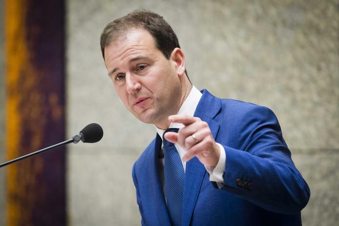 Lodewijk Asscher (PvdA) tijdens een plenair debat in de Tweede Kamer over de regeringsverklaring.