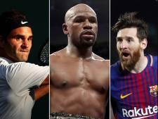 Deze tien sporters zijn de grootverdieners van 2017