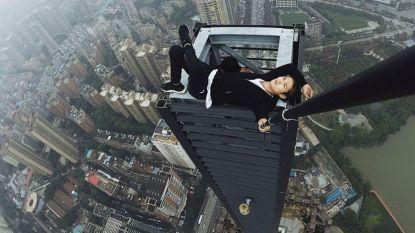 """Beroemde Chinese beklimmer van wolkenkrabbers stort neer: """"Hij had geld nodig voor huwelijk en voor zieke moeder"""""""