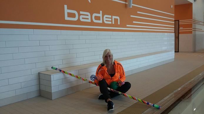 Maria Gram hoopt met haar jarenlange ervaring het zwemonderwijs in het nieuwe Delfinoh Hallenbad in Nordhorn naar een hoger plan te kunnen brengen.