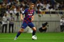 Oriol Busquets in actie namens FC Barcelona tegen Chelsea vorige maand.