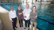 Francis Davidson is zes miljoenste bezoeker van het zwembad