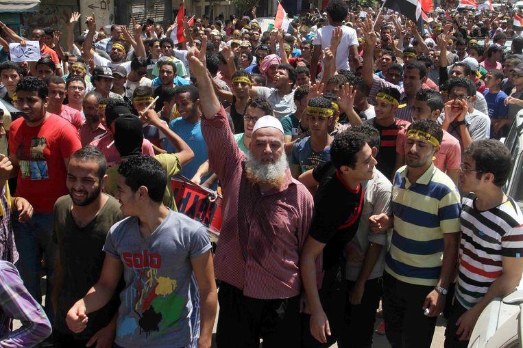 In Caïro wordt gedemonstreerd Beeld afp