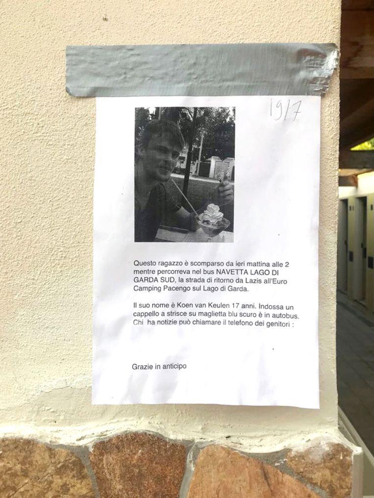 Een flyer met daarop een foto van Koen van Keulen