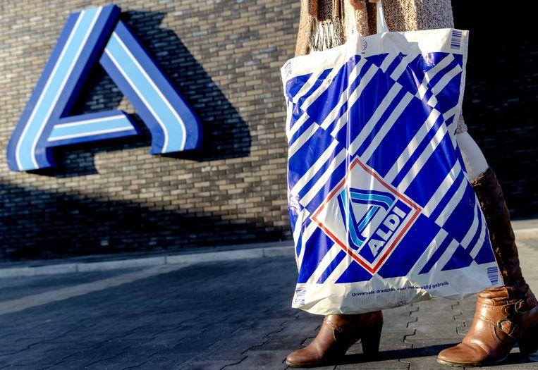 Plastic tas van de supermarktketen Aldi. Beeld ANP XTRA