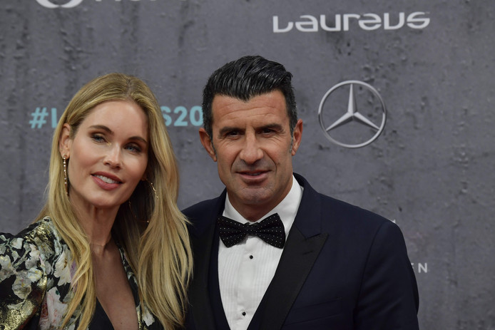 Luis Figo et son épouse Helen Svedin en février dernier.