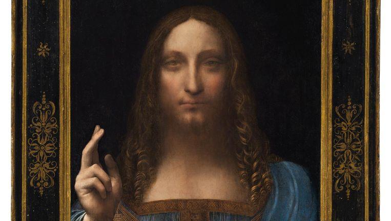 'Salvator Mundi' door Leonardo da Vinci Beeld epa
