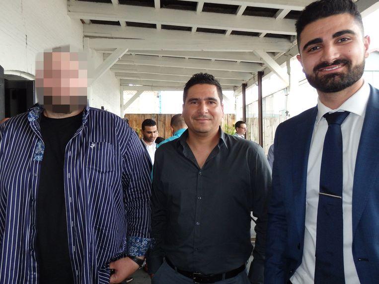 Xpose-bedenker Fadi K. (l), hier met zijn vrienden Michael Patti (m) en Emeer Albadawi, gaat de wereld een stukje veiliger maken. Beeld Schuim