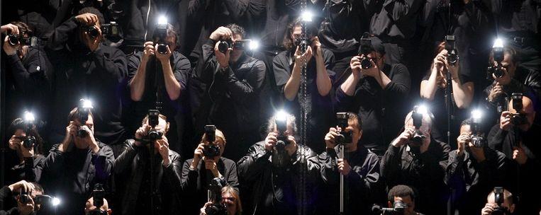 De slachtoffers van paparazzi vinden het het niet zo grappig. Beeld epa