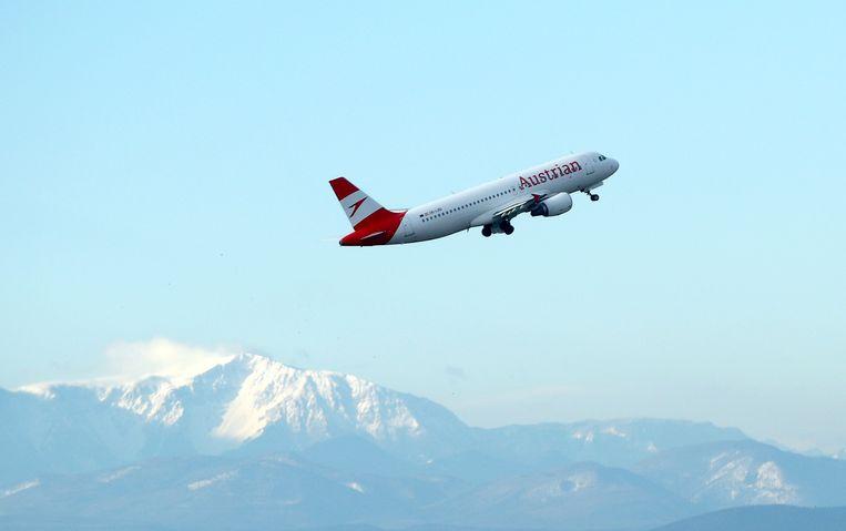 Een toestel van Austrian Airlines