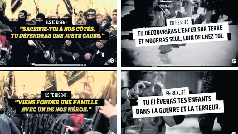 Beelden uit de anti-jihadvideo's waarmee Frankrijk probeert jongeren ervan te weerhouden naar Syrië of Irak af te reizen. Beeld Film van de Franse overheid
