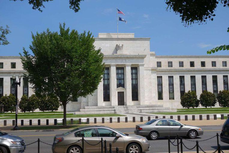 Het gebouw van de Federal Reserve in Washington. Beeld afp