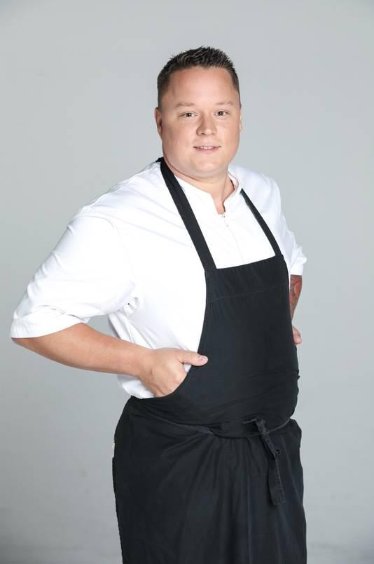 """Maxime Zimmer, 30 ans, possède son propre restaurant """"Un Max de goût"""", à Comblain-au-Pont, en région liégeoise."""